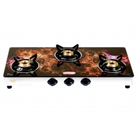 Brightflame 3 Burner Digital Glass Stove